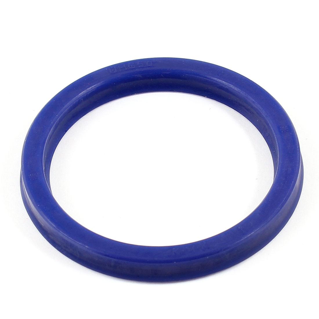60mm x 48mm x 6mm Grooving Rubber O Ring Skeleton Oil Seal Gasket Blue