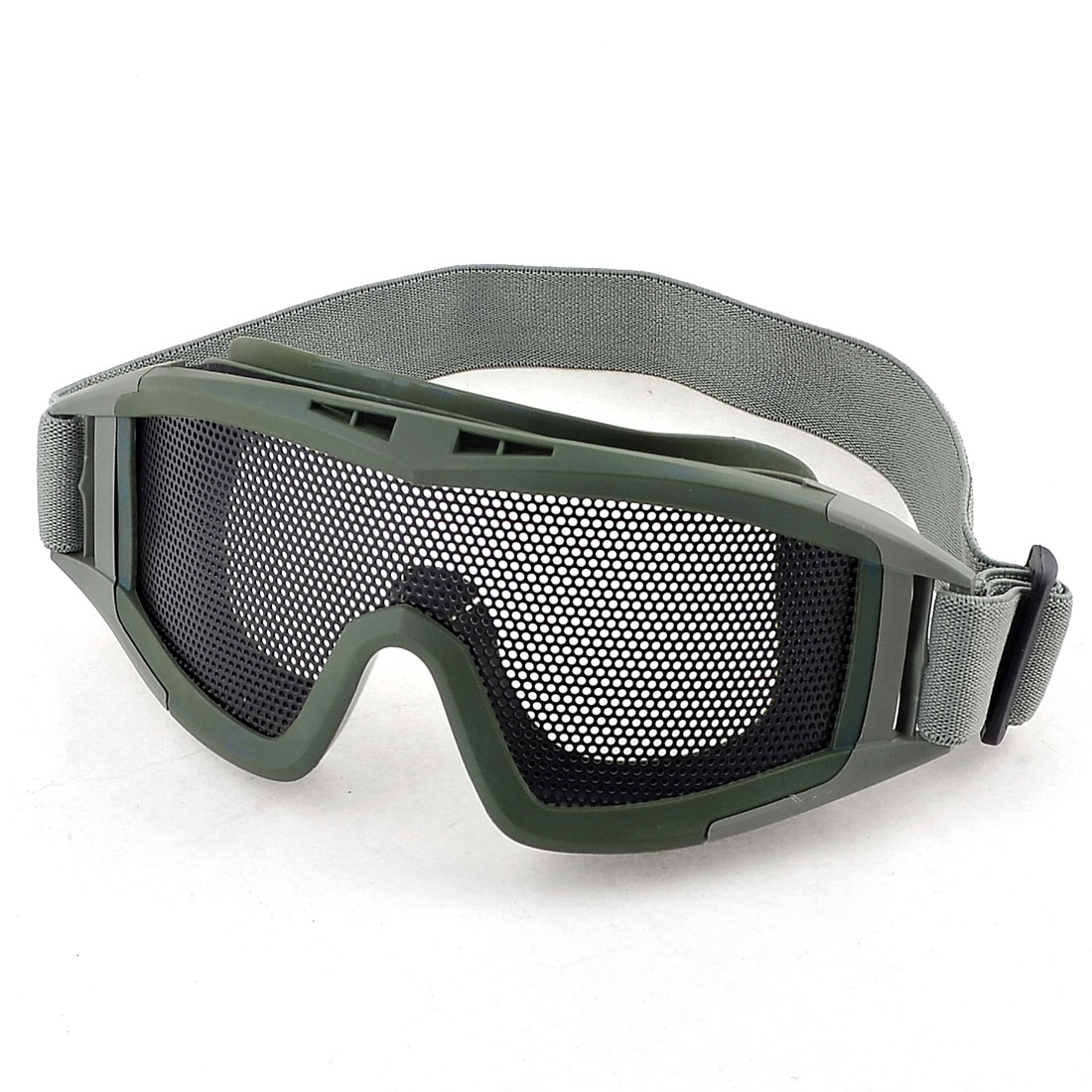 Stretchy Band Army Green Mesh Lens Eyes Protection Goggles Glasses