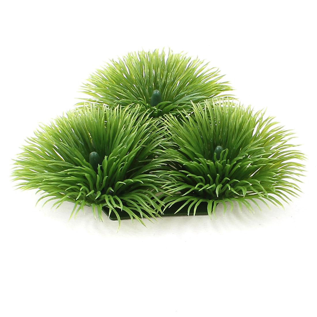 Green Plastic Manmade Round Underwater Plant Grass Balls for Aquarium