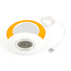 4 USB 1.1/2.0 High Speed Ports Mug Coffee Warmer Heater w Clock Orange White