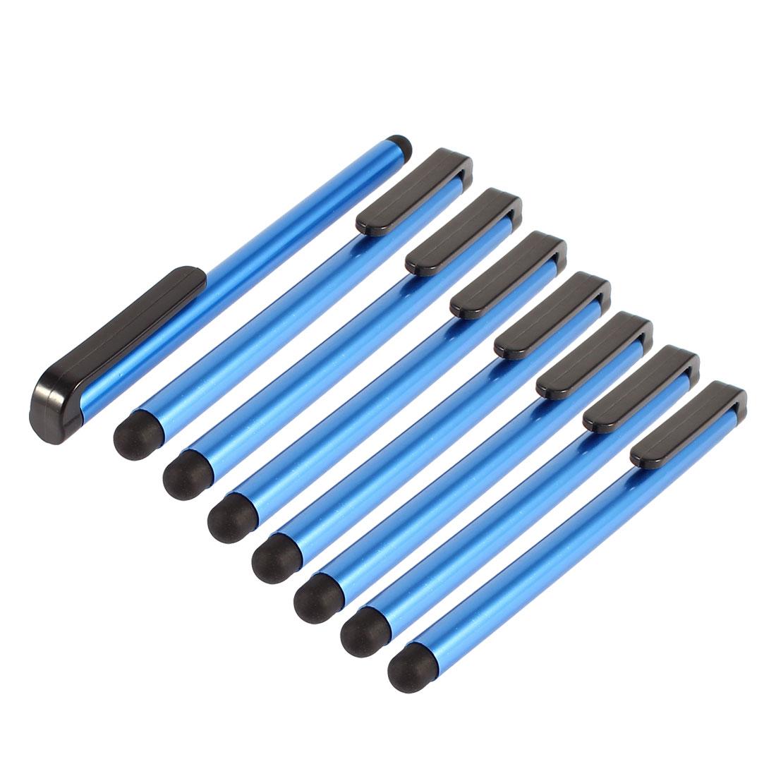 8 Pcs Soft Tip Dark Blue Screen Touch Stylus Pen for Mobile Phone