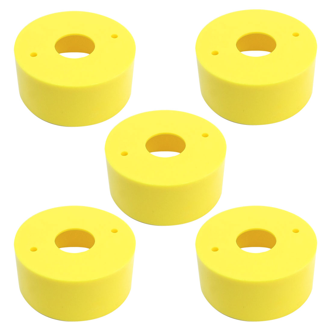 5pcs 22mm Cutout 67x30mm Yellow Round Protective Case for Push Switch Button