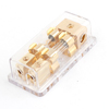 60Amp Clear Plastic Case Car Amplifier 1 in 2 Out ANL Fuse Inline Holder