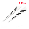 2 Pcs Silver Tone Triangle Shaped Decorative Car Auto Air Flow Fender Stickers