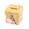 Square Shaped Cartoon Coin Money Saving Box Case Yellow
