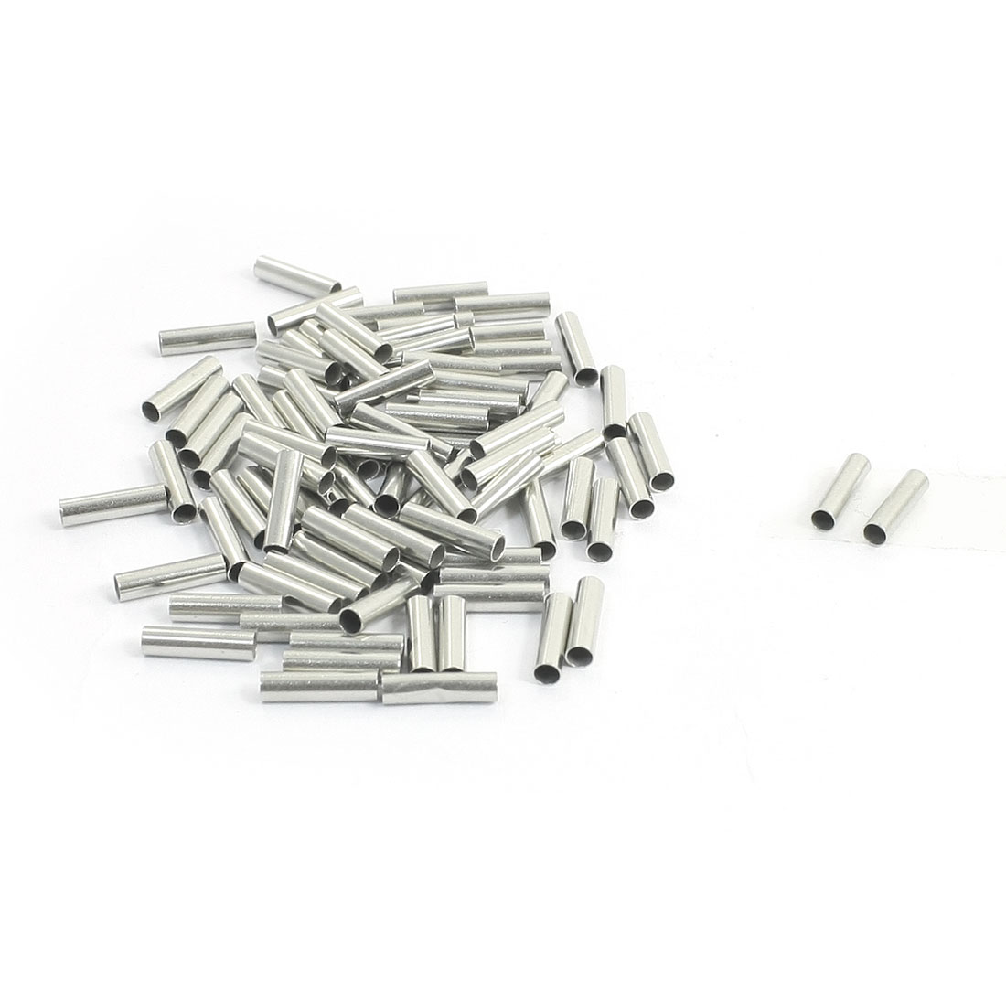 14AWG Electric Cable Wire EN2508 Crimp Connector Tubular Bare Terminal 100 Pcs
