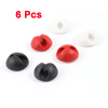 6 Pcs Silicone Mini White Black Red Cable Wire Organizer Clips Clamp