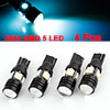 Vehicles T10 5 SMD 5050 Lens Ice Blue LED Brake Stop Side Light Lamp 2 Pcs