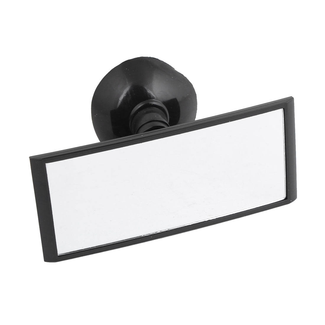 Car Suction Cup Adjustable Retangle Blind Spot Parking Rearview Mirror Black