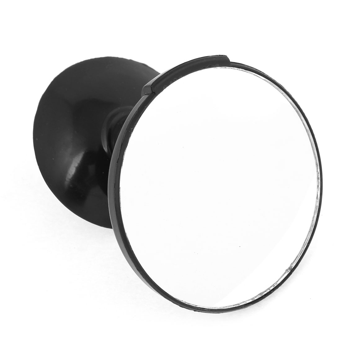 Car Black Frame Wide Angle Rotating Rear View Blind Spot Mirror w Suction Cup