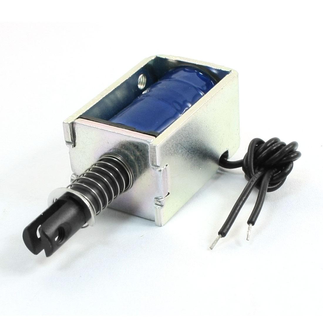 DC 24V 5mm 0.04lb Open Frame Push Pull Type Magnet Electromagnet Solenoid