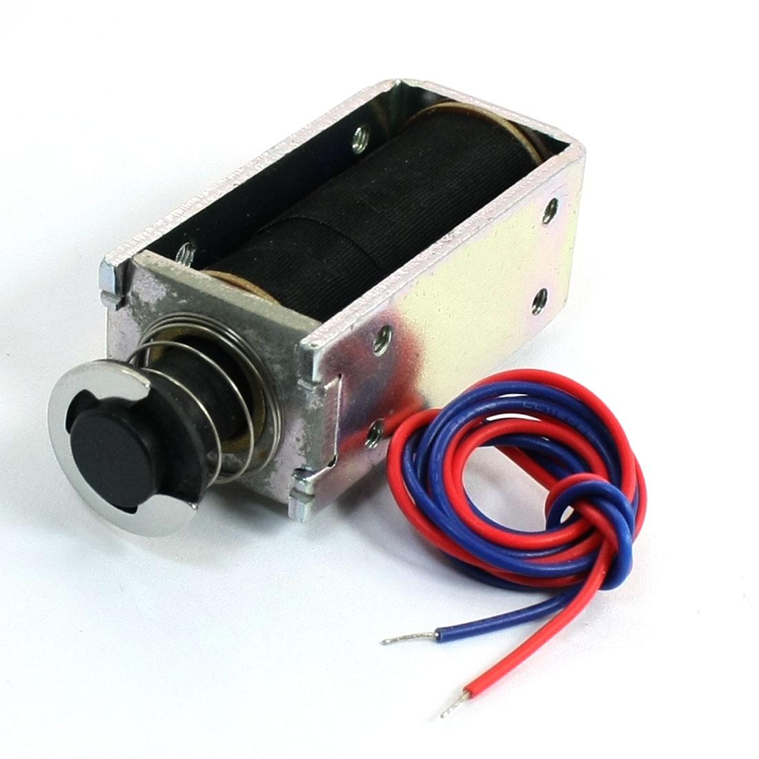 0.7lb Spring Plunger Push Pull Linear Electromagnet Solenoid DC 24V 0.34A