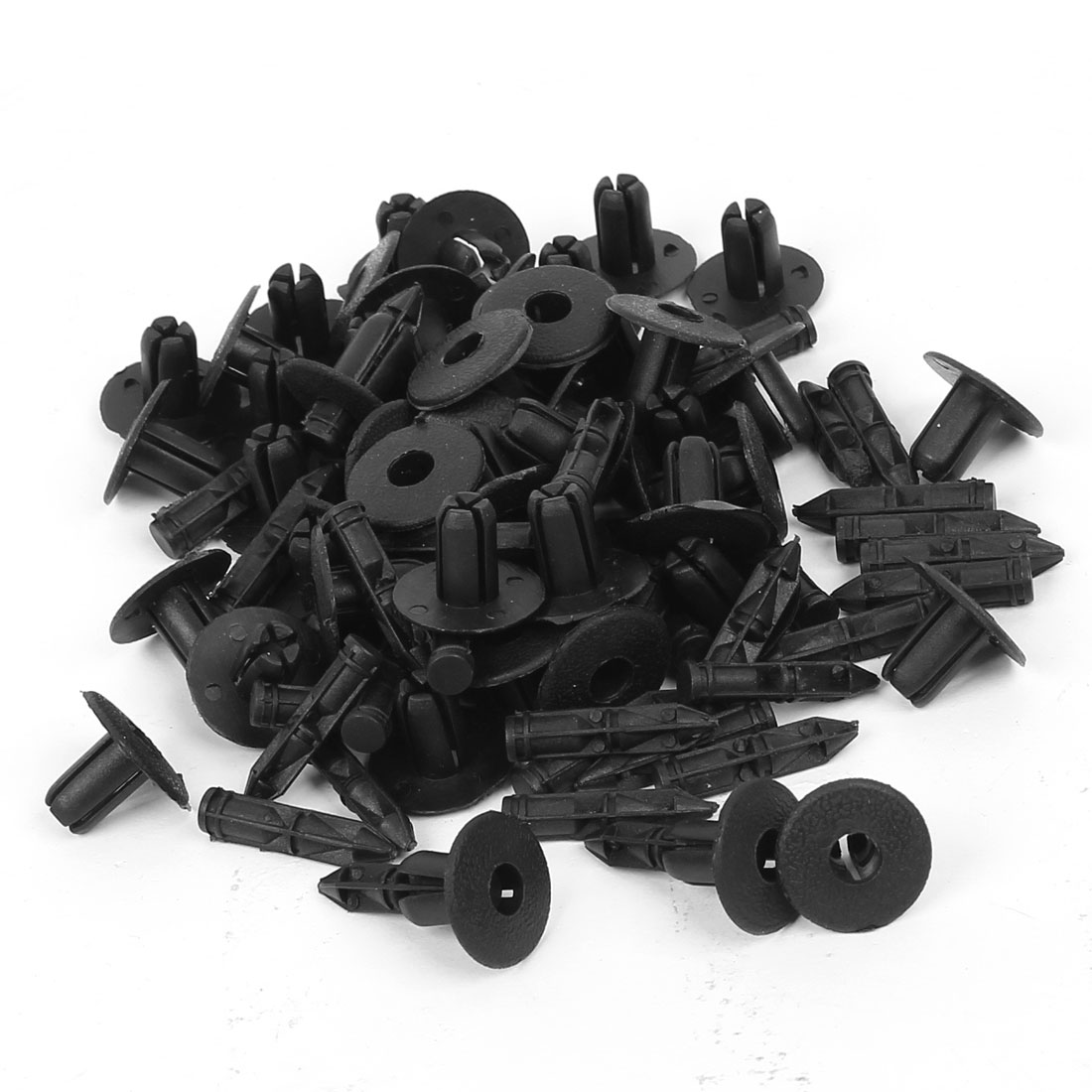 Car 5.5mm Hole Door Fender Plastic Push Rivets Screw Fasteners 50 Pcs