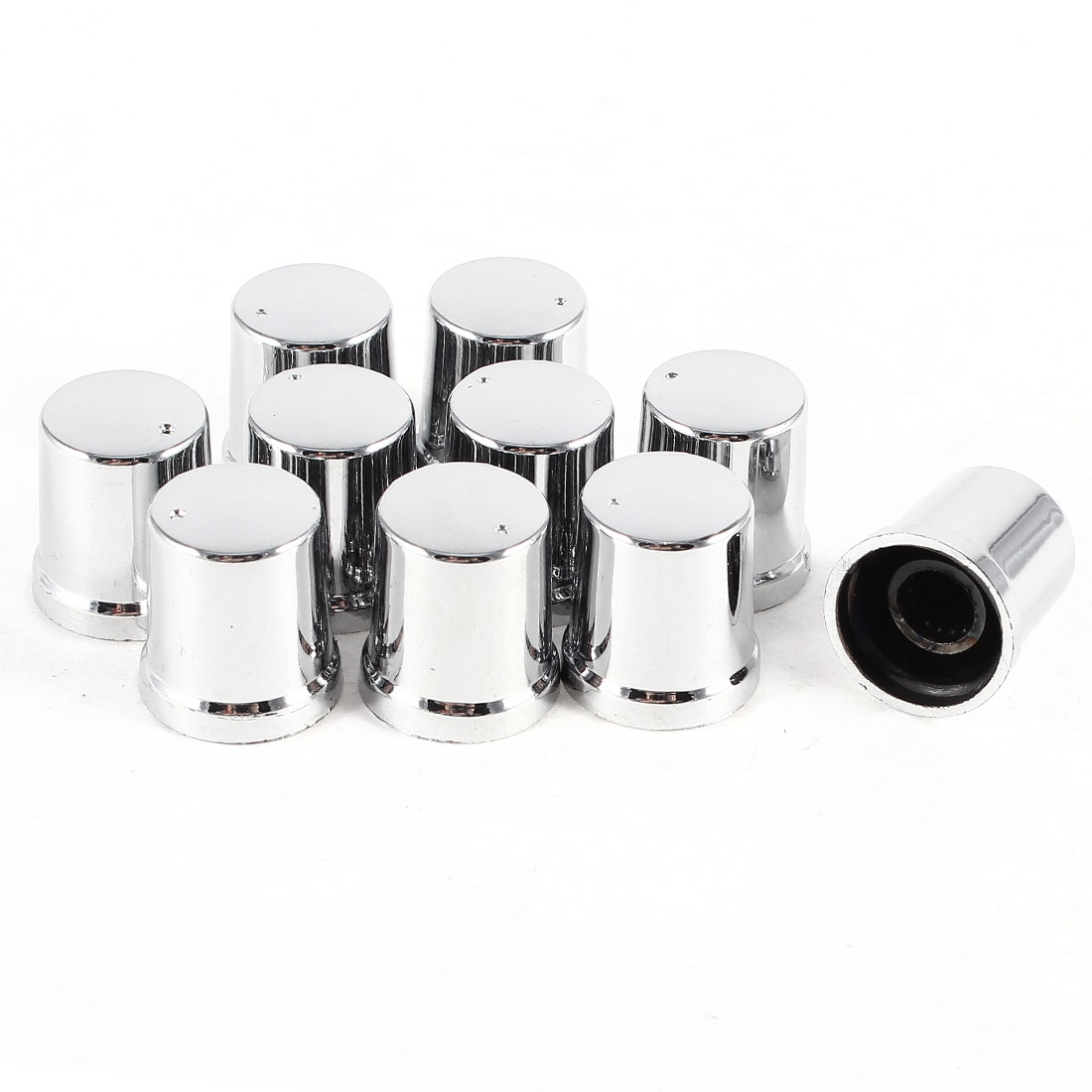 17mm x 15mm Plastic Potentiometer Control Volume Rotary Knob Cap 10 Pcs