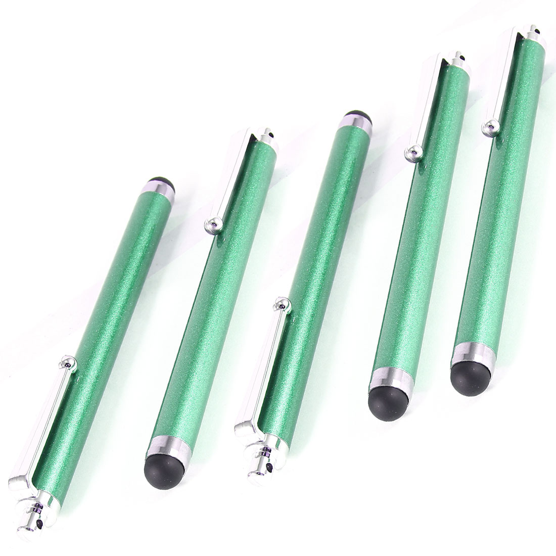 5 Pcs Green Alloy Touch Screen Stylus Pen for Mobile Phone