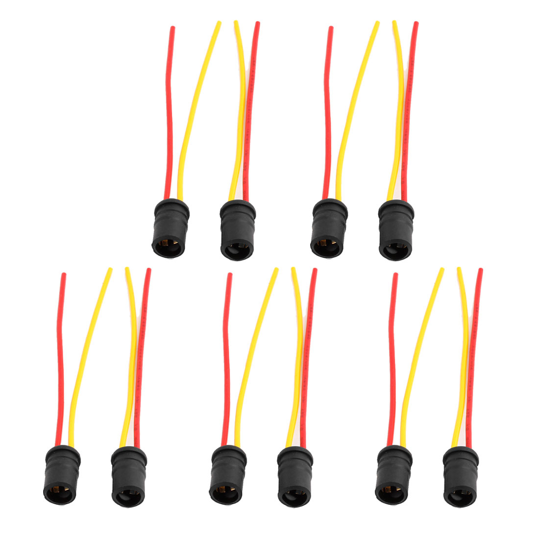 10 Pcs T10 Light Socket Lamp Bulb Holder Wire Harness Connector for Car
