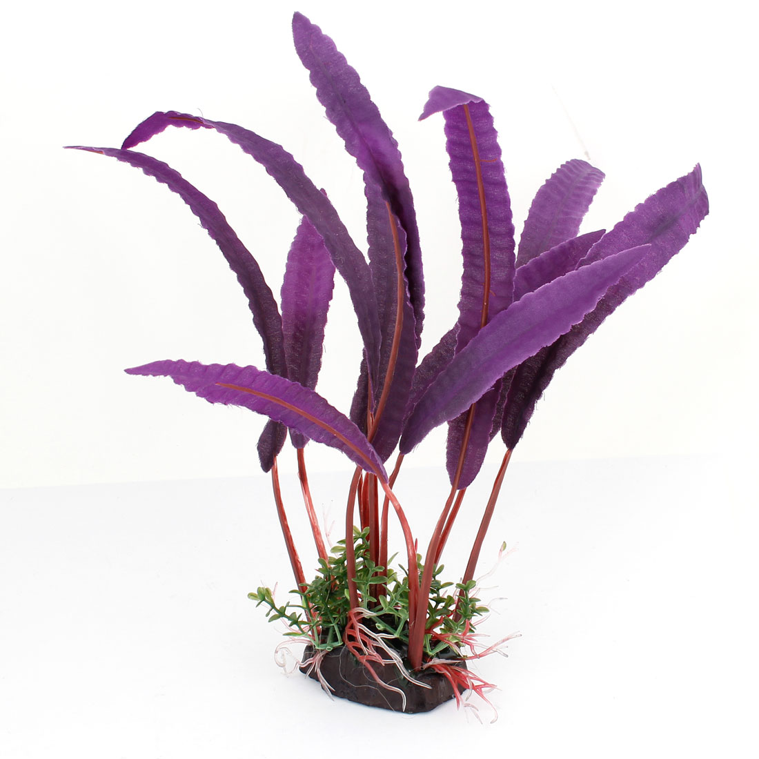 "9.5"" High Dark Purple Nylon Simulated Aquatic Plant Decor for Aquarium"
