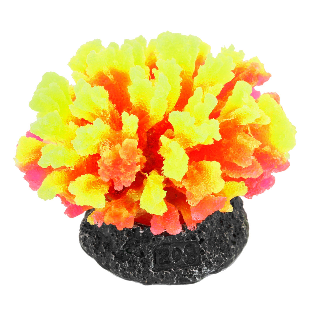 Yellow Red Silicone Artificial Aquarium Coral Ornament
