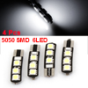 Car T10 W5W 194 168 White Canbus 5050 SMD 6-LED License Light Bulb Lamp 4 Pcs