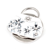 Faux Rhinestone Inlaid Fower Detail White Handbag Style Folding Purse Hanger