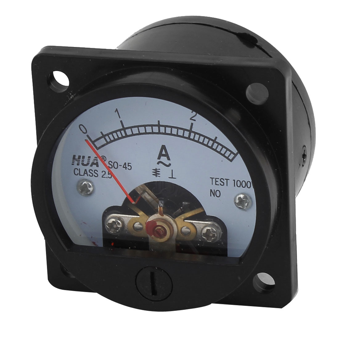 SO-45 Class 2.5 Accuracy AC 0-3A Analog Ammeter Panel Meter Black