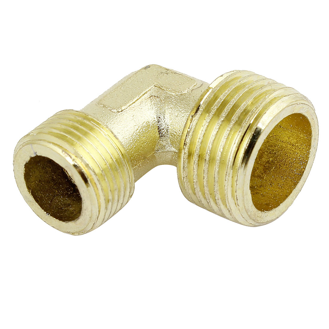 """Brass Right Angle Male Elbow Connector Coupler 1/2"""" PT x 3/8"""" PT"""