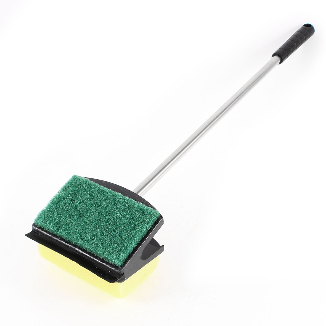 Metal Handle Dual Sides Soft Sponge Cleaning Brush for Fish Tank