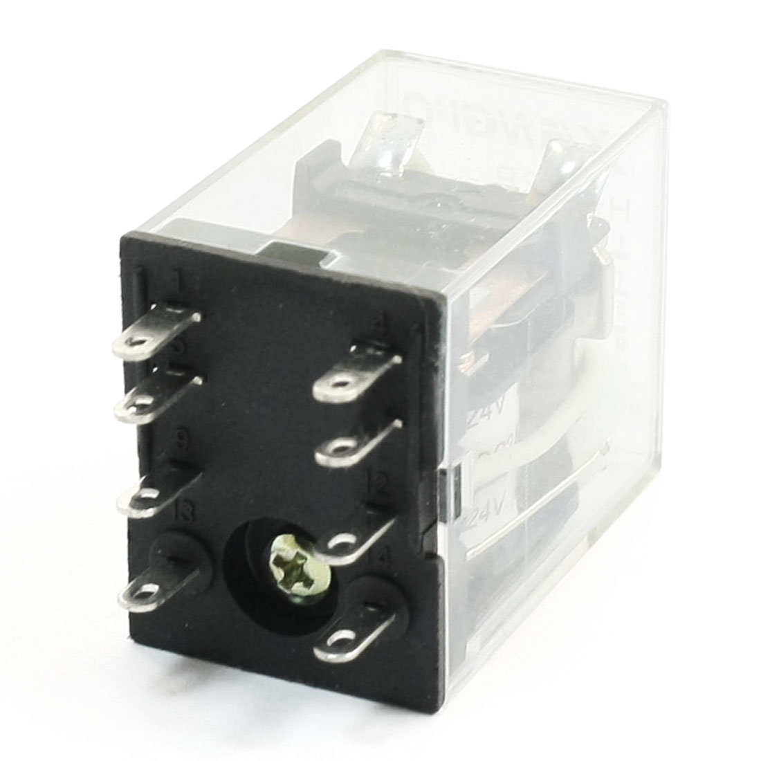HH52P DC 24V 8 Pin DPDT Green Indicator Power Electromagnetic Relay