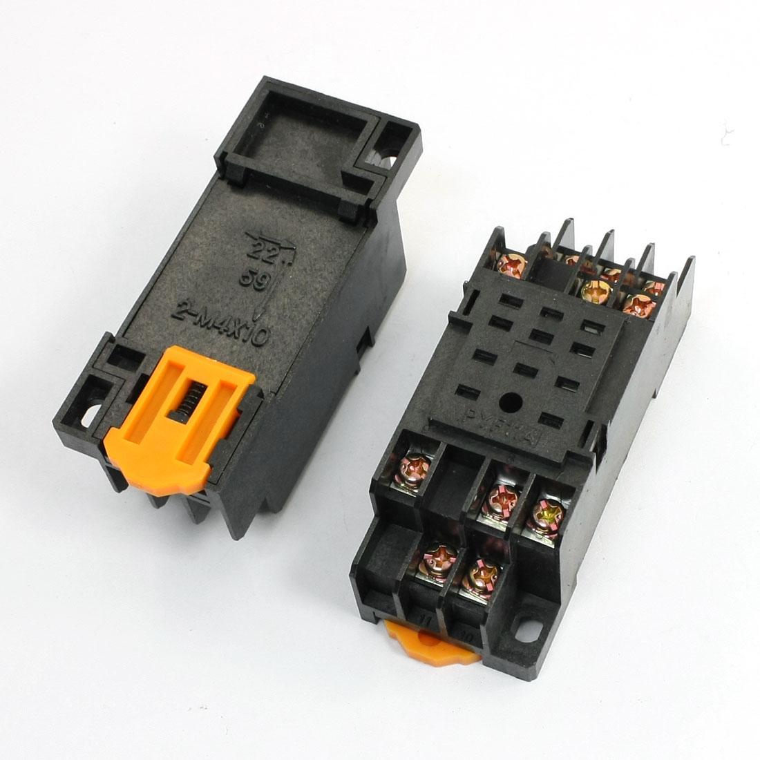 2pcs 11Pins Screw Terminal HH53P Power Relay Socket Base Holder PYF11A