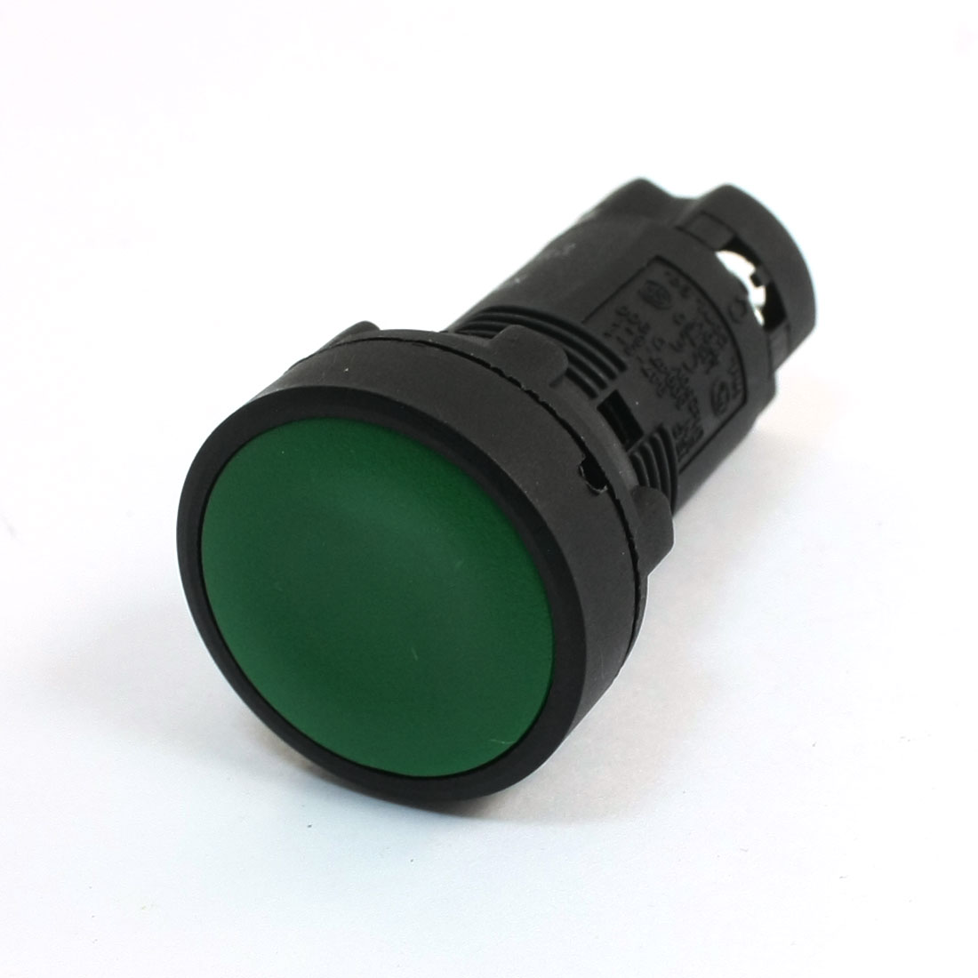 Panel Mounted AC 250V 3A Momentary SPDT NO NC Pushbutton Switch Green