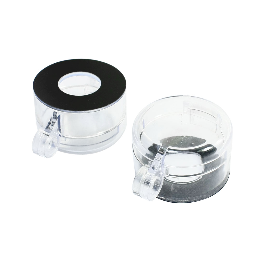 2pcs Clear 22mm Round Push Button Switch Protective Cover Guard Case