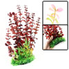 "18.8"" Heigh Tank Aquarium Green Red Plastic Simulation Underwater Grass Plant Ornament"