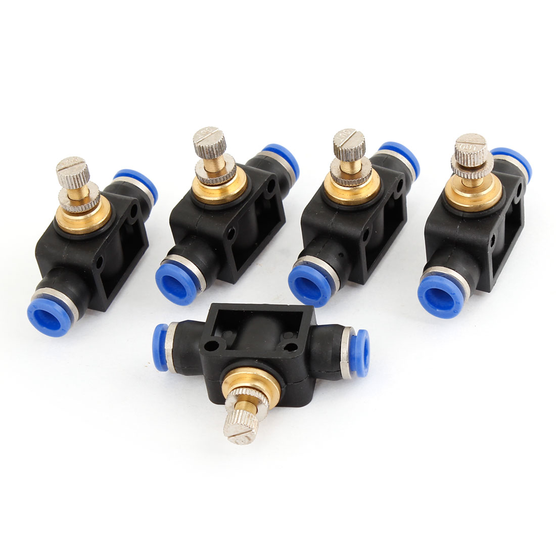 5 Pcs 8mm to 8mm Air Tube Speed Control Quick Coupler Coupling Pneumatic Fitting