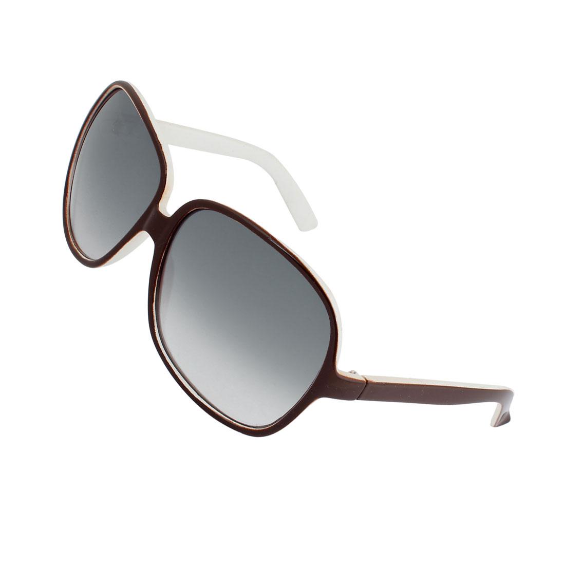 Coffee Color White Full Rim Clear Gray Rain Drop Lens Glasses Sunglasses
