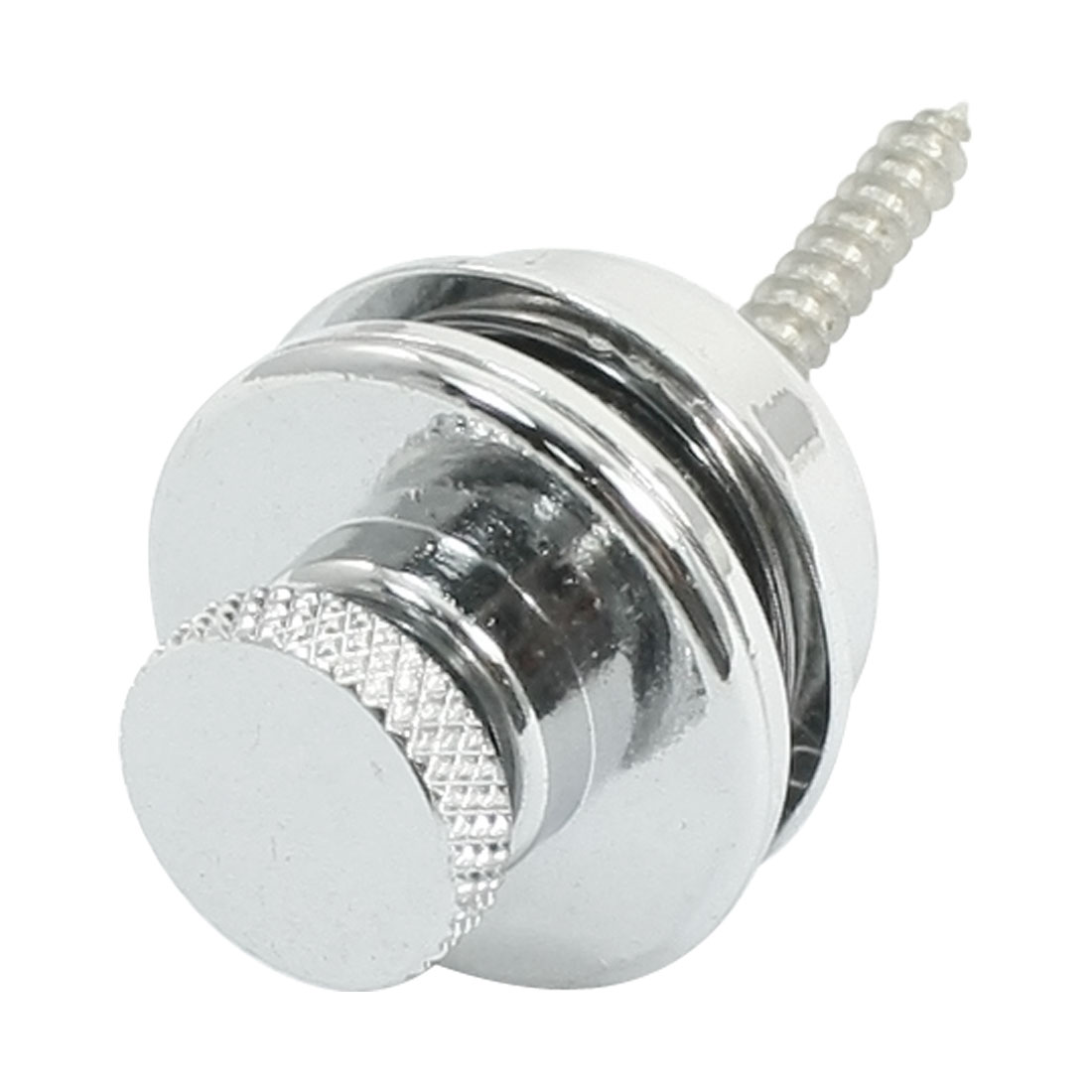 Strap Metal Safety Lock Button Nails Set Silver Tone for Electric Guitar