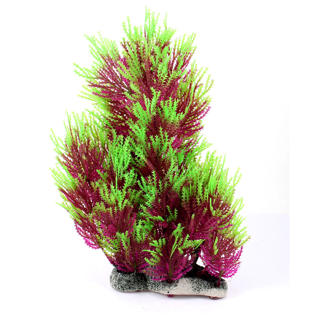 26cm High Aquarium Landscape Manmade Plastic Plant Grass Decor Green Purple