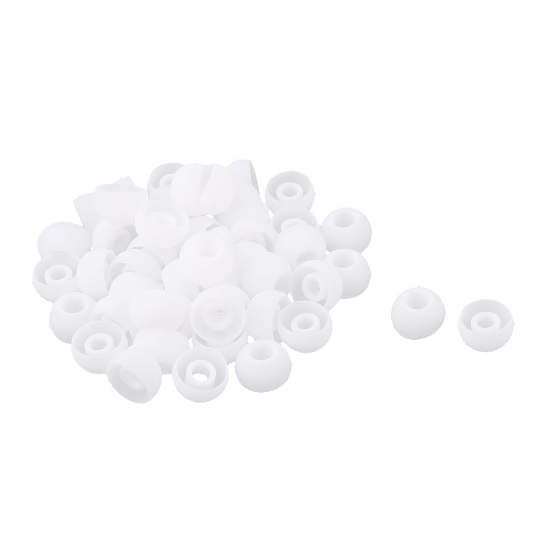 Earphone Headphone Silicone Replacement In Ear Bud Tip Cap Cover White 50 Pcs