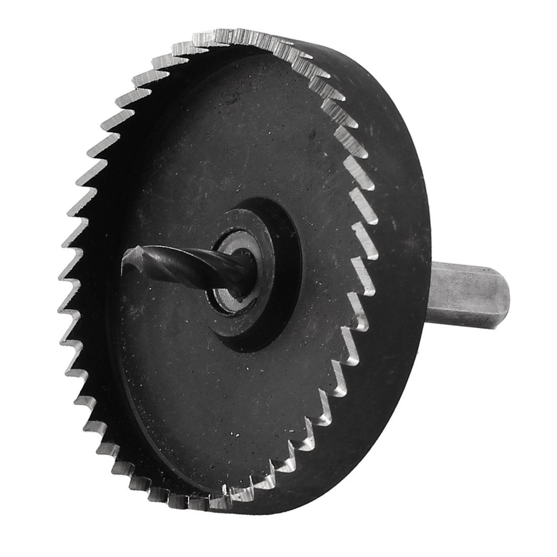70mm Diameter Iron Cutting 6mm Twist Drilling Bit HSS Hole Saw Tool