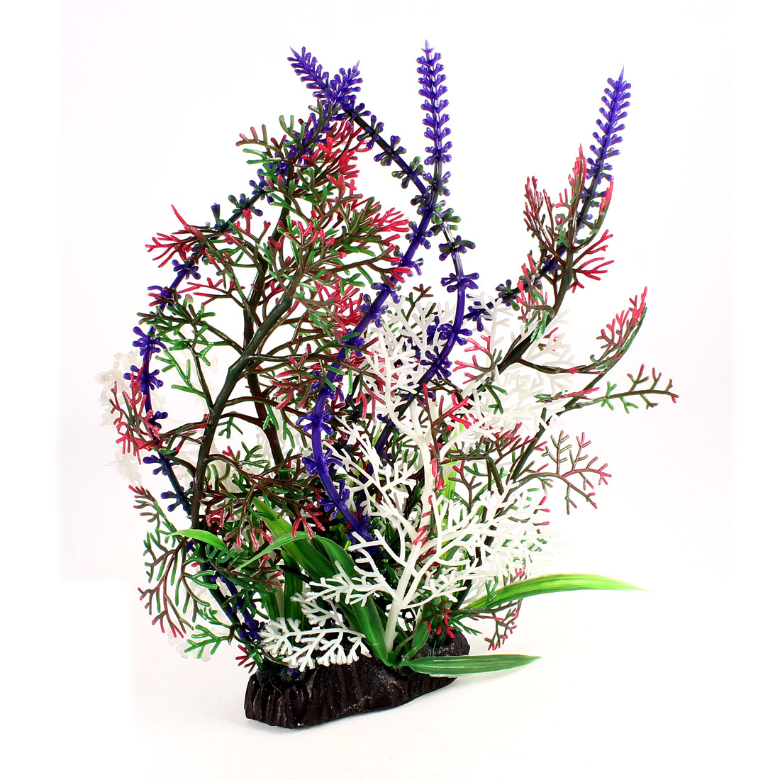 "Artificial Colorful Underwater Grass Plant Fish Tanks Aquarium Ornament 9.1"" High"