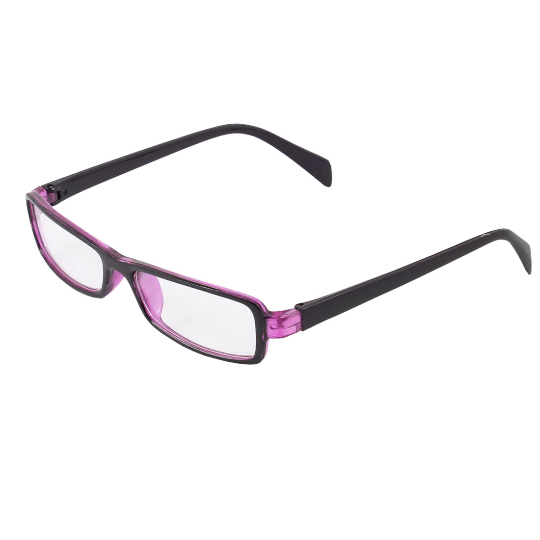 Purple Arms Full Fram Clear Lens Plain Glasses Spectacles