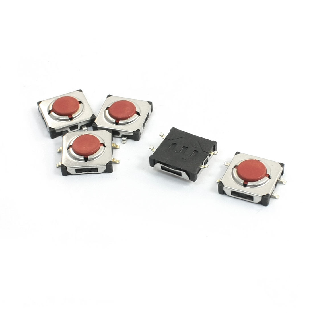 5 Pcs 12x12x4mm 4 Pins SMD Momentary Waterproof Tact Tactile Switches