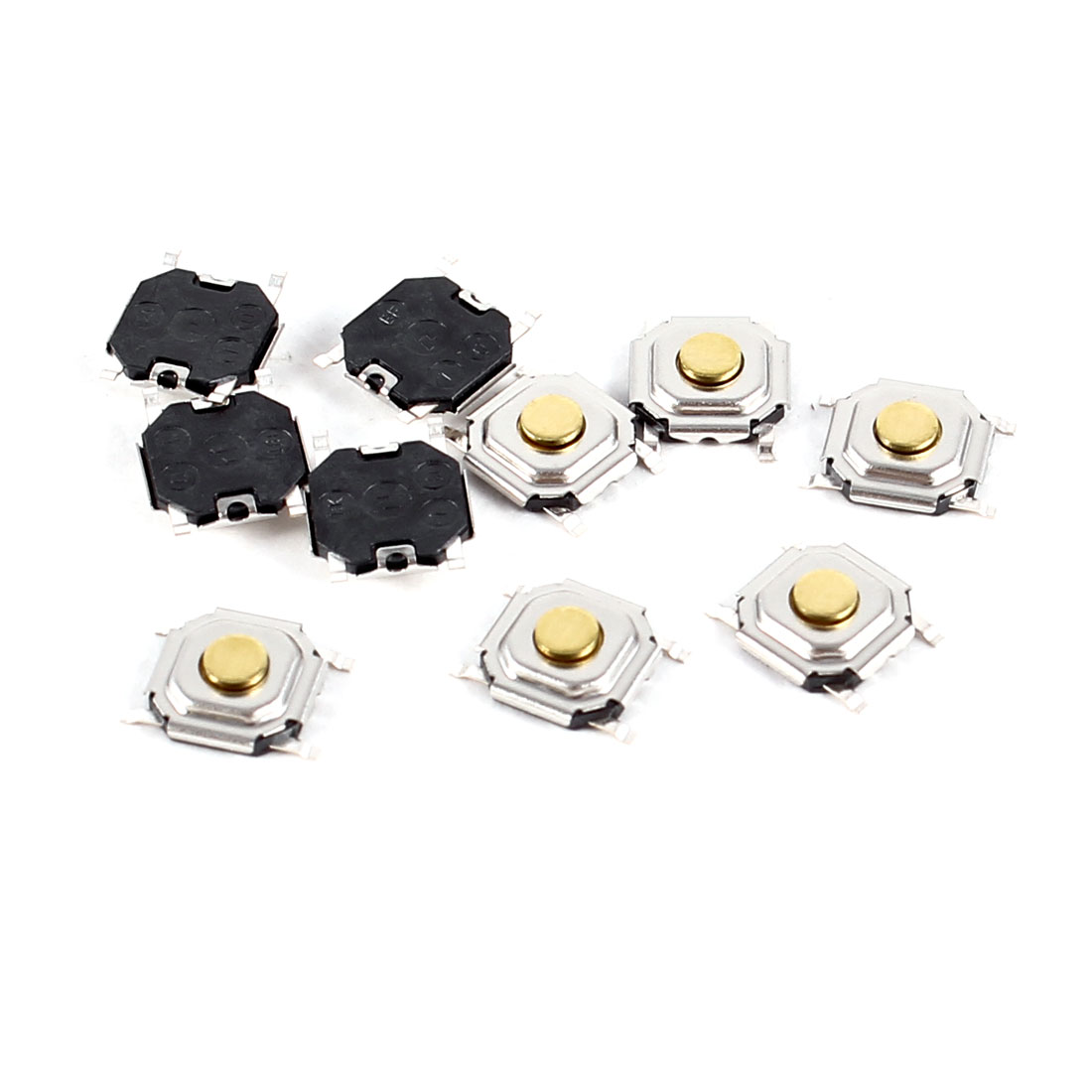 10Pcs DC5V 5mA 500000 Cycles Surface Mount Tact Switches 4 x 4 x 1.5mm