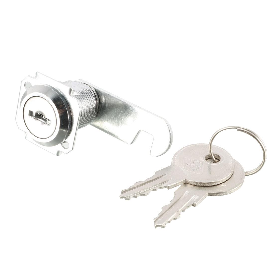 House Closet Mail Box Quarter Turn Security Metal Lock w 2 Keys