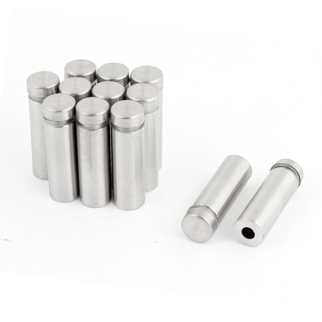 12 Pcs 12mm x 40mm Wall Mount Stainless Steel Standoff Nail Hardware for Glass