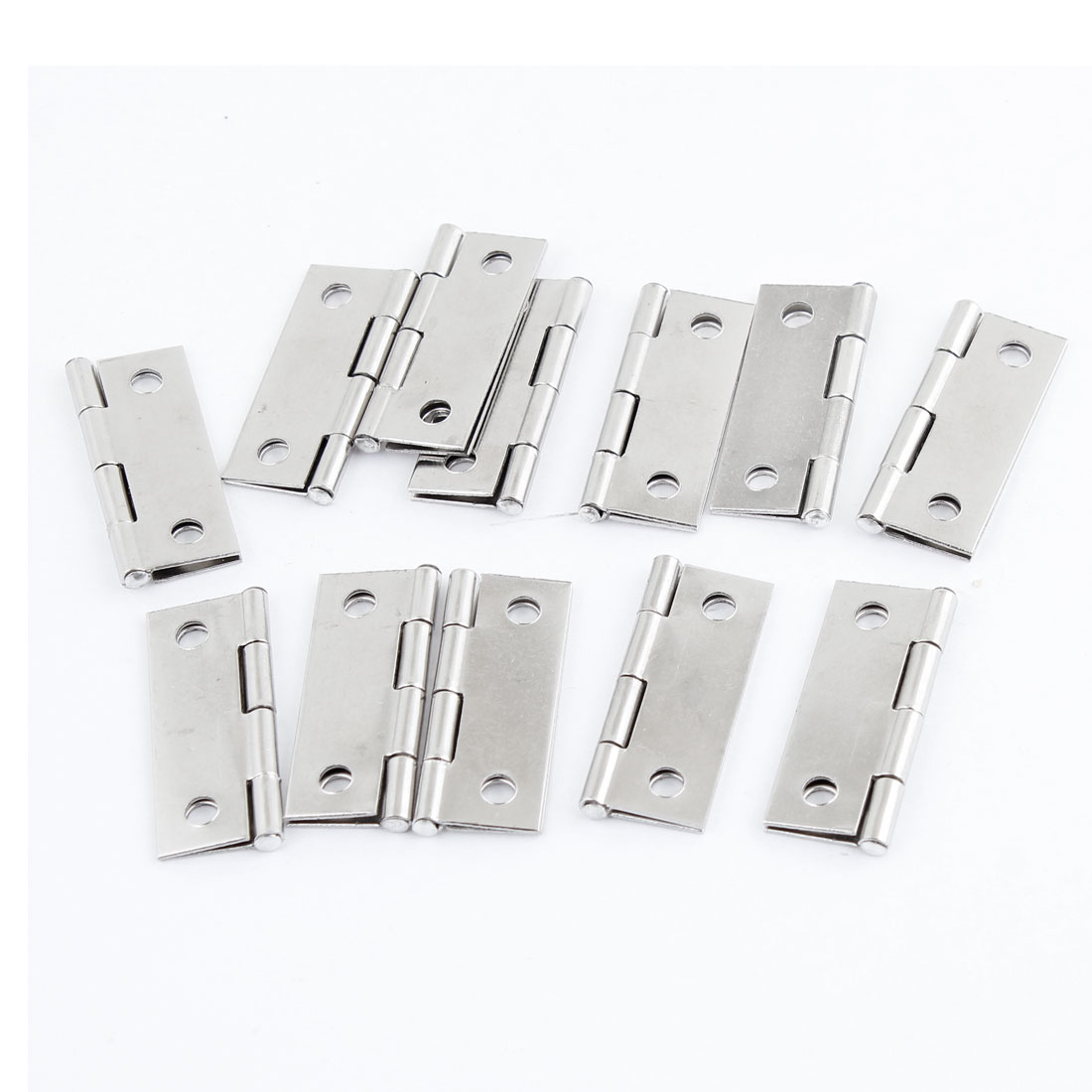 """12pcs Cabinet Drawer Door Stainless Steel Hinges 1.5"""" Length"""