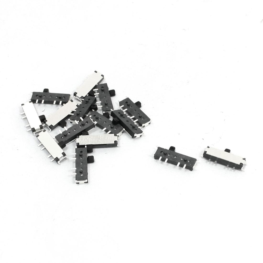 15PCS 8-Pin 3-Position DPDT Panel PCB Mini SMD SMT Slide Switch 11 x 5 x 1.5mm