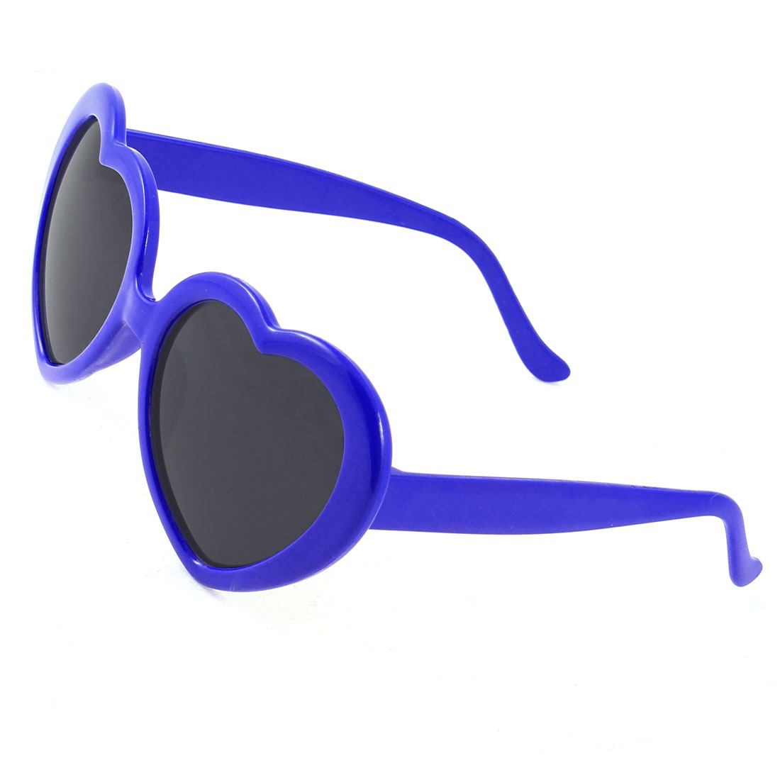 Blue Heart Shaped Lens Single Bridge Leisure Sunglasses for Kids