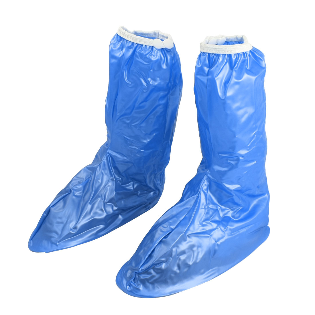 Women Outdoor Blue Water Resistant Rain Boots Shoe Cover US 8.5 Pair