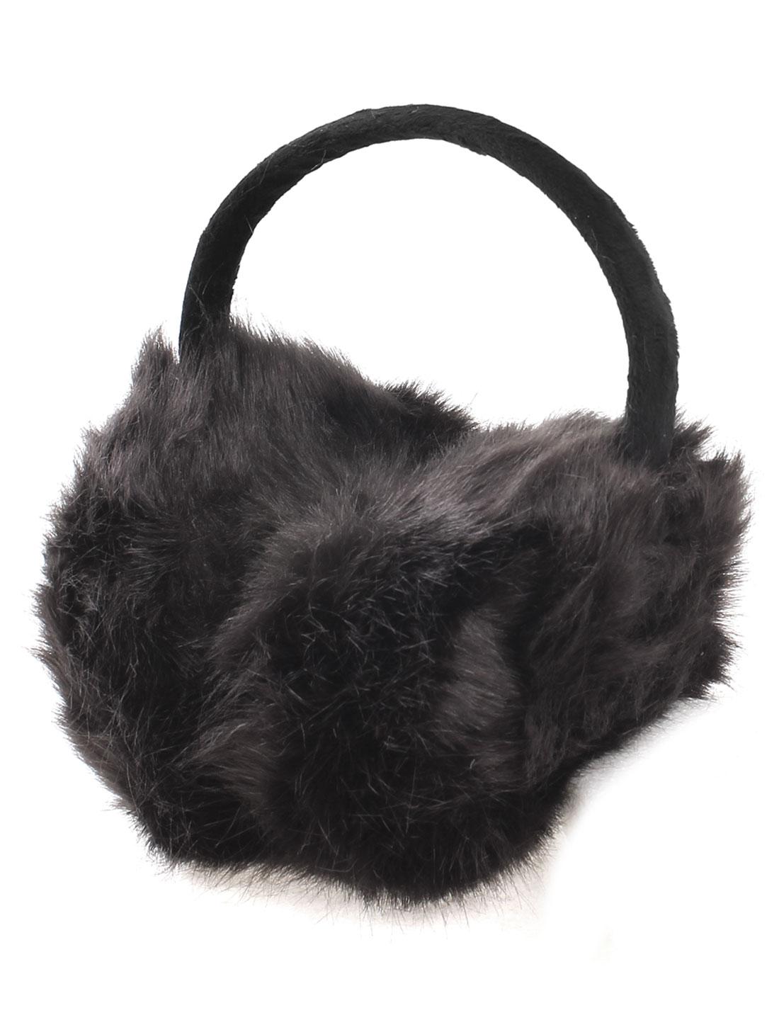 Outdoor Plush Warmer Headband Ear Muffs Earmuffs Chocolate Color for Girl