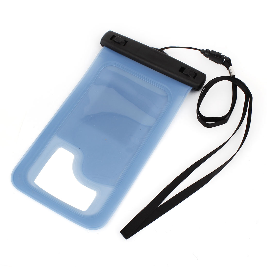 Clear Blue Underwater Waterproof Case Bag For Cell Phones w Nylon String